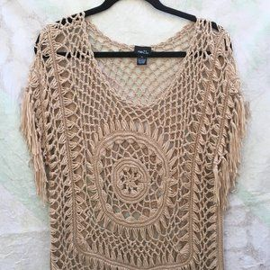 Rue 21 Pull Over Weave Sweater with Fringe